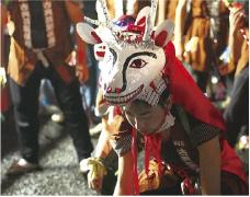 徳山の盆踊 鹿ん舞