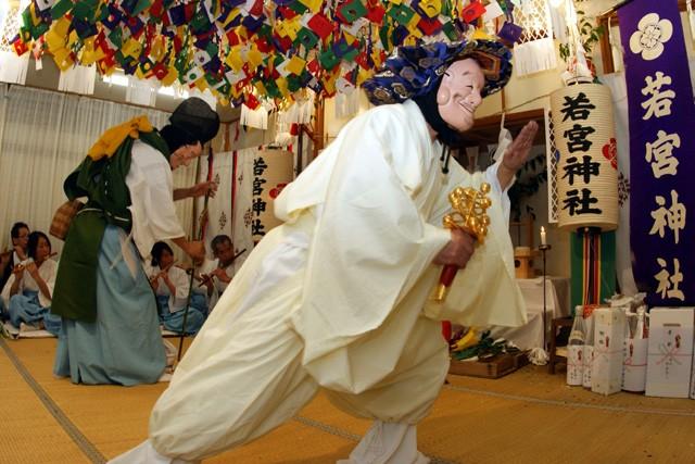 梅津神楽_09_恵比須大国の舞(2009年撮影)1
