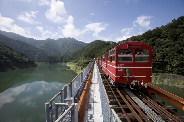s奥大井レインボーブリッジを渡る列車