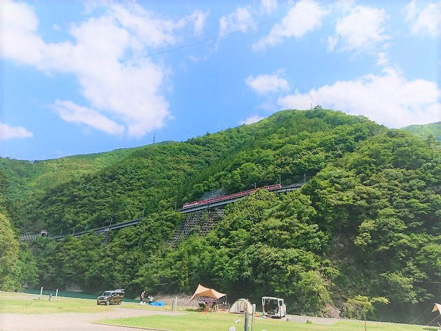 s-南アルプスあぷとライン(アプトいちしろキャンプ場より)